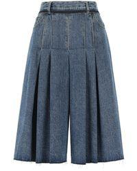 Maison Margiela Denim Pant-skirt Donna - Blue