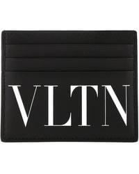 Valentino Garavani Leather Card Holder - Black