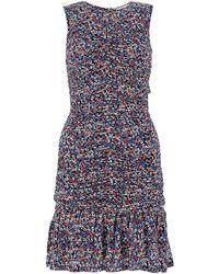 MICHAEL Michael Kors Printed Stretch Crepe Dress Nd Donna - Blue