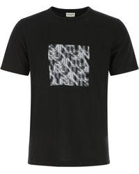 Saint Laurent Cotton T-shirt Uomo - Black