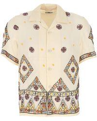Bode Embellished Viscose Divine Shirt Nd Uomo - Multicolor