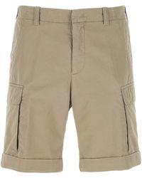 Z Zegna Dove Cotton Blend Bermuda Shorts - Grey