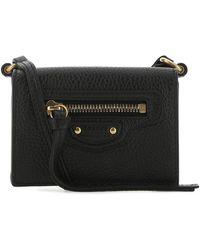 Balenciaga - Leather Mini Neo Classic Wallet Donna - Lyst