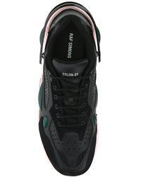 Raf Simons Black Leather Cylon-21 Sneakers Nd Uomo