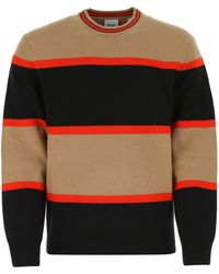Burberry Embroidered Wool Blend Sweater - Multicolor