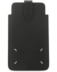 Maison Margiela Leather Phone Case - Black