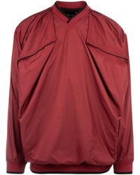 Y. Project Burgundy Polyester Oversize Sweatshirt Nd Uomo - Red