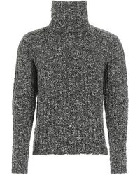 Dolce & Gabbana Two-tone Bouclé Sweater Uomo - Gray