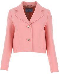 Prada Pink Light Wool Blazer Nd