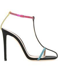 Sebastian Embellished Fabric Sandals Donna - Multicolor