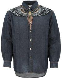 Marcelo Burlon Denim Shirt Nd Uomo - Blue