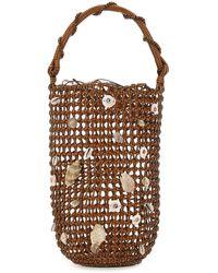 Loewe Leather Paula's Ibiza Shells Mesh Handbag Donna - Multicolor
