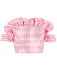Greta Boldini Embroidered Cotton Top 38 - Pink