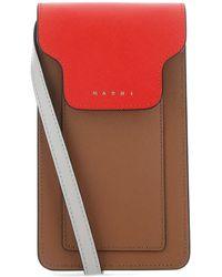 Marni Multicolour Leather Phone Case Donna