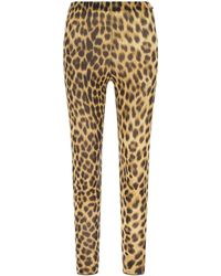 Sportmax Printed Stretch Nylon Blend leggings Animalprint L - Multicolour