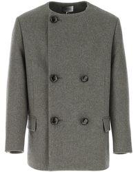 Isabel Marant Blend Wool Coat Uomo - Grey