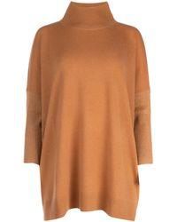 Max Mara Caramel Wool Blend Silva Sweater Nd Donna - Brown