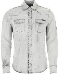 Dolce & Gabbana - Light- Stretch Denim Shirt - Lyst