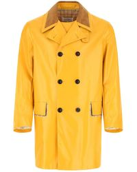 Maison Margiela Coated Cotton Trench Coat Uomo 48 - Yellow