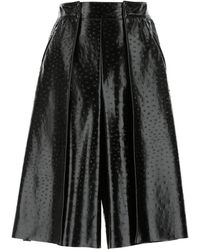MSGM Synthetic Leather Pant-skirt - Black