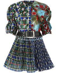 Chopova Lowena - Printed Taffeta Dress Nd Donna - Lyst