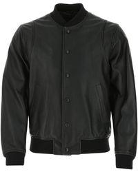 DSquared² Leather Bomber Jacket - Black
