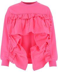 RED Valentino Dark Pink Cotton Blend Sweatshirt
