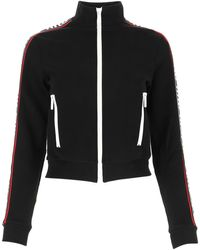 Miu Miu Black Cotton Blend Sweatshirt Nd Donna