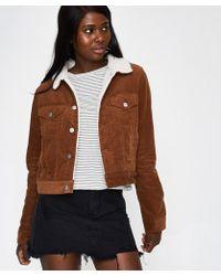 Insight - Brandy Shrunken Jacket Toffee Brown Cord - Lyst