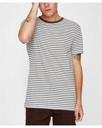 Rhythm - Everyday Stripe T-shirt Classic Brown - Lyst