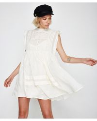 Free People - Nobody Like You Emb Mini Dress - Lyst
