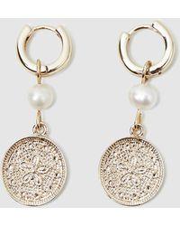 Alice In The Eve Matilda Medallion Drop Earrings - Metallic