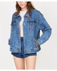 Insight - Oversized Denim Jacket Jackie Blue Patch - Lyst