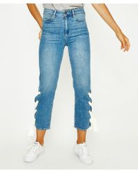 PAIGE - High Rise Sarah Straight Jean - Lyst