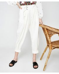 Free People - Double Buckle Trousers - Lyst