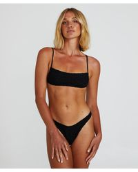 Insight Elanor Ruched Crop Bikini Tbc - Black