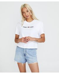 Tommy Hilfiger Tjw Modern Linear Logo Tee - White
