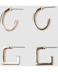 Alice In The Eve Annie Geo Earring 2 Pk - Metallic