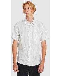 Neuw Everyday Stripe Ss Shirt Off White