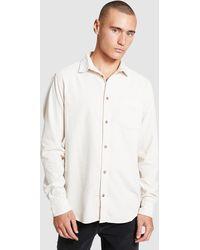 Insight Bushwick Ls Cord Shirt Cream - White