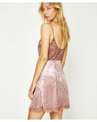 Free People - Cheeky Velvet Mini Mauve - Lyst