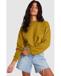 Wrangler Darling Crop Sweat Khaki Dust - Multicolour