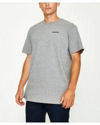 Patagonia - P-6 Logo Responsible T-shirt Gravel Heather - Lyst