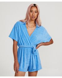 Insight Sky Towelling Playsuit Blue