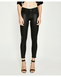 PAIGE - Hoxton Ankle Jean Black Luxe Coating - Lyst