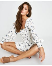 Free People - Two Faces Mini Dress - Lyst