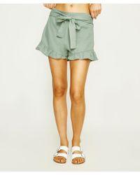MINKPINK - Teatime Tie Front Frill Skirt Short - Lyst