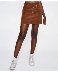 Insight - Peyton Pelmut Skirt Toffee Brown Cord - Lyst