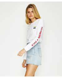 RVCA - Toy Machine Long Sleeve T-shirt White - Lyst