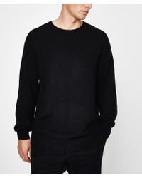 Zanerobe - Towel Crew Knit Black - Lyst